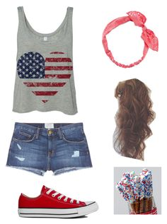 """""""Fourth of July"""" by marilyng341 ❤ liked on Polyvore featuring Current/Elliott, Converse and Carole"""