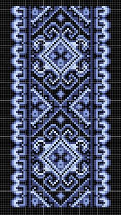 Beading _ Pattern - Motif / Earrings / Band ___ Square Sttich or Bead Loomwork ___ Cross Stitch Letters, Cross Stitch Borders, Cross Stitch Kits, Cross Stitch Designs, Cross Stitching, Bead Loom Patterns, Beading Patterns, Stitch Patterns, Beaded Embroidery