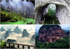 YingXi Corridor of Stone Peaks and China