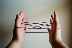 Cat's cradle - who knew a piece of string could keep kids occupied. I think I would only remember a couple of them but some were pretty hard