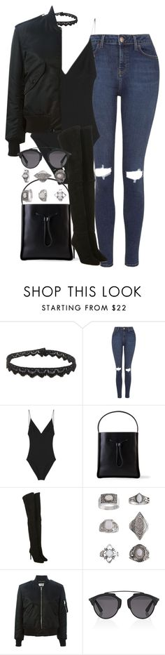 Untitled #4226 by maddie1128 on Polyvore featuring Yves Saint Laurent, Topshop, Dion Lee, Balmain, 3.1 Phillip Lim and Christian Dior
