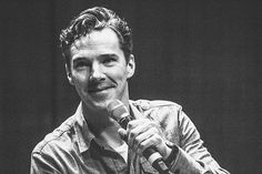 Benedict Cumberbatch  being adorable. you are welcome.