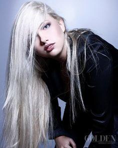 platinum / white blonde hair
