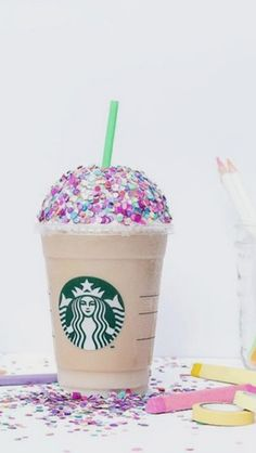 Starbucks paillettes multicolore