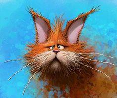 Tattered battered cat by Dennis Jones