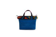 Azzurra Grochi spring/summer bags collection, blue handbag