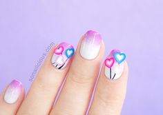 Yet another great idea for easy Valentine's Day nails! Find out how to create these Love Heart balloons nails using fimos. It's easier than you think!