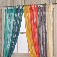 One Of My Favorite Discoveries At WorldMarket Green Crinkle Voile Curtain