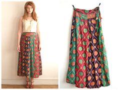 70s indian skirt patchwork with Jaipur Batik by DrenkusParis