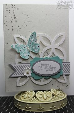 Layered Stampin Up...of course this card uses my favorite set gorgeous grunge :)