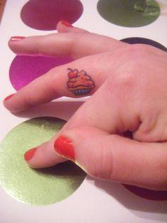 Cute little cupcake tattoo