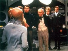 "William Hartnell as the First Doctor with William Russell as Ian Chesterton - ""The Sensorites"" - 1964"