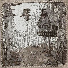 """Headline: """"Ask Baba Yaga: I Am My Own Worst Enemy"""" (Saturday, August 31, 2013) Image credit: Baba Jaga by Iphigen ♛ Once Upon A Blog... fairy tale news ♛"""