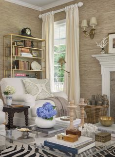 Coastal living room via Kate Jackson Design