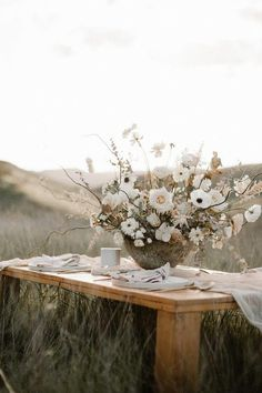 Earthy bohemian picnic ideas for summer on 100 Layer Cake picnic tables Wedding & Party Ideas Floral Centerpieces, Wedding Centerpieces, Wedding Table, Floral Arrangements, Wedding Bouquets, Our Wedding, Rustic Wedding, Dream Wedding, Wedding Decorations