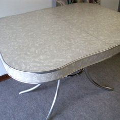 vintage 1950s formica and chrome kitchen table ate all my meals on this until college. beautiful ideas. Home Design Ideas