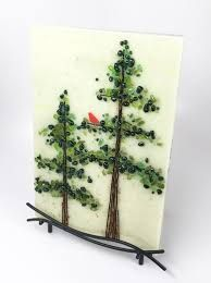 Image result for fused glass pine tree