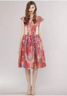 Rochie din brocart colorat