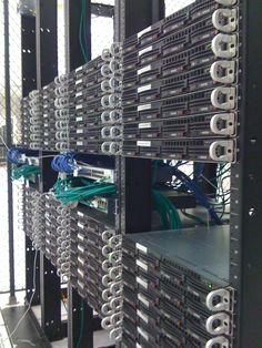 Rack of SuperMicro servers in the Linode Atlanta datacenter.