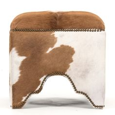 Zentique has curated an eclectic collection of home furnishings and accent decor. Find trends from antique inspired to modern contemporary to fit in any room! Cowhide Furniture, Leather Furniture, Colorful Furniture, Contemporary Furniture, Modern Contemporary, Shabby Chic Ottoman, Ottoman Stool, Cowgirl Chic, Cow Hide