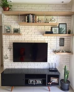 Zoom on kitchen trends 2018 - My Romodel Brick Interior, Interior Design, Kitchen Trends 2018, Living Room Tv, Handmade Home Decor, Sweet Home, House Design, Decor Ideas, Home Decor Ideas