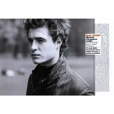 L'uomo Vogue Editorial Max Irons' British Elegance, July/August 2010... ❤ liked on Polyvore featuring max irons and editorials