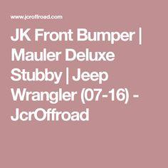 JK Front Bumper | Mauler Deluxe Stubby | Jeep Wrangler (07-16) - JcrOffroad