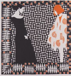 Koloman Moser - illustration for a poem by Rilke.