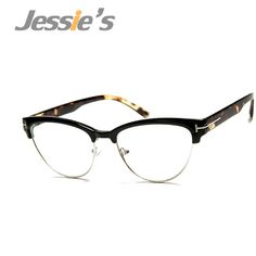 1bf524f2ab Vintage Eyewear Women Brand Designer Cat Eye Nerd Glasses Fashion Eyeglasses  Frames Classic Half Frame Elegant Optical glass