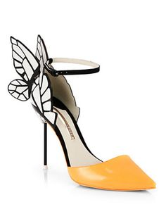 Sophia Webster - Clara Patent Leather Butterfly d'Orsay Pumps