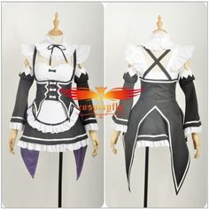 Halloween Re:Life in a Different World from Zero Rem Dress Cosplay Costume…