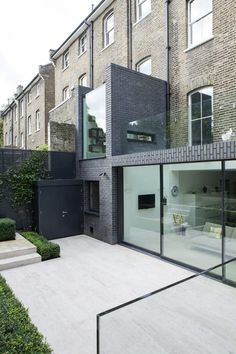 London house extension by Lipton Plant Architects features a walk-on glass roof that can be accessed by climbing through a window