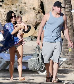 Beautiful beach brood! Channing Tatum enjoyed some family fun in the Puerto Rican sun with wife Jenna Dewan-Tatum and their adorable 6-month-old daughter Everly.