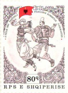 1983  Albania  - Kerchief dance. Folklore Festival, Gjirokaster