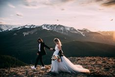 Sara is an Edmonton and beyond wedding and engagement photographer for the free-spirited lovers that are looking to document lifes most important moments. Planner Decorating, Rose Photography, Hair Makeup, Romantic, In This Moment, Wedding Dresses, Mountain, Weddings, Top