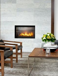 Built-in #fireplace idea for a contemporary space