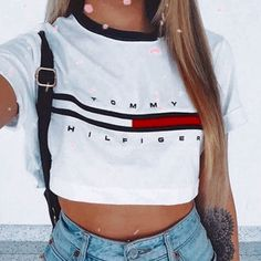 WOMEN TOMMY HILFIGER CROP TOP sold by The doll house. Shop more products from The doll house on Storenvy, the home of independent small businesses all over the world.