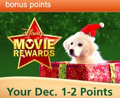 10 FREE Disney Movie Rewards Points For Christmas (Day 1-2) on http://hunt4freebies.com
