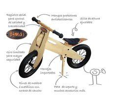 Bicicletas De Madera Bimai La Mejor Opcion De Regalo! - $ 265.000