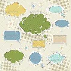Speech Bubbles — Vector EPS #illustration #paper • Download here → https://graphicriver.net/item/speech-bubbles/1066148?ref=pxcr