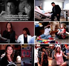 Derek: I don't want you to be alone. If anything should happen to me, I don't want it to... just be you.
