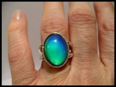 Sterling mood ring
