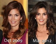 Another look at Cindy Crawford's transformation.