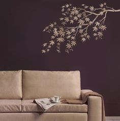 Stencil Japanese Maple Branch  Reusable  by CuttingEdgeStencils. Beautiful stencils at this Etsy store.