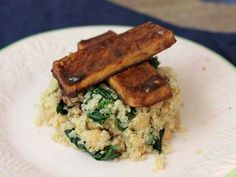 Baked Tofu and Quinoa With Chickpeas and Spinach