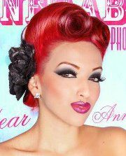 pin up makeup and victory rolls
