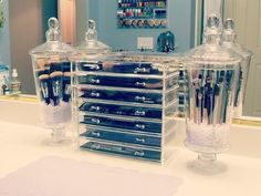 So getting these holders for my brushes! Gorgeous (I have those Sigma brushes on the left, as well)!