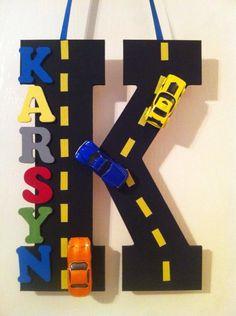 Karsyn's matchbox hot wheel car bedroom door sign