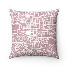 Paris Map Pillow Case Living Room Decor Throw Pillow Covers