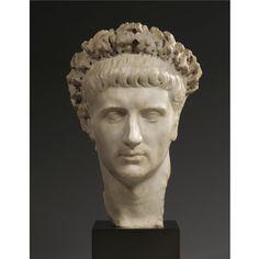 Marble portrait head of the Emperor Claudius, Roman Imperial, C. Roman Artifacts, Ancient Artifacts, Roman Sculpture, Sculpture Art, Roman History, Art History, Ancient Rome, Ancient History, Art Romain